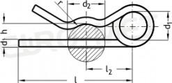 Zawleczka sprężysta podwójna TYP-D