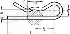 Zawleczka sprężysta pojedyncza TYP-E